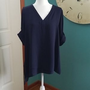 The Limited size large navy blue blouse